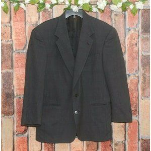 Murano Men's Charcoal Gray Suit Jacket Size 41R